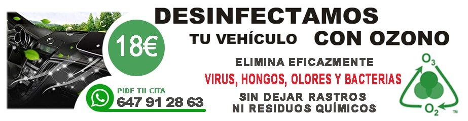 desinfeccion vehiculos madrid en Monster Garage
